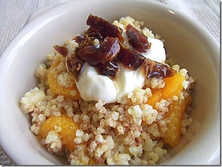 Cinnamon Spiced Warm Orange Millet with Dates (2)