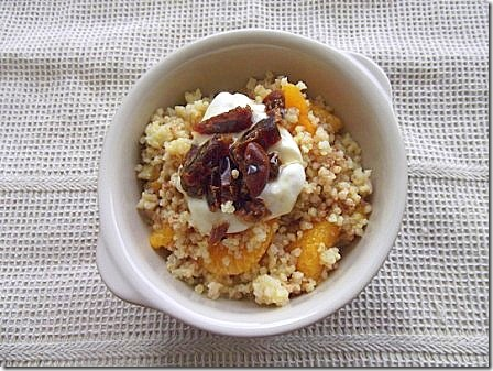 Cinnamon Spiced Warm Orange Millet with Dates (9)