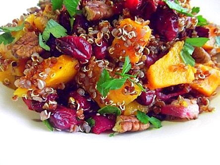Roasted Butternut Squash Red Quinoa Cranberry Salad (27)