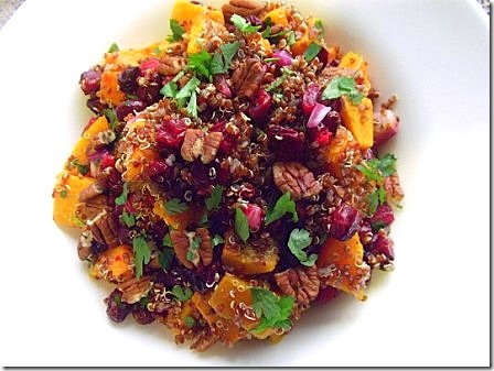 Roasted Butternut Squash Red Quinoa Cranberry Salad (28)