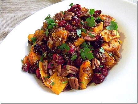 this time throwing some roasted cranberries and pecan nuts in to the ...
