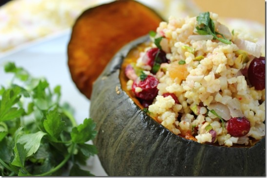 Cranberry, Pistachio and Apricot Stuffed Pumpkin (10)