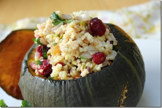 Cranberry, Pistachio and Apricot Stuffed Pumpkin (2)