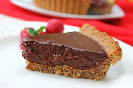 Vegan Chocolate Pecan Nut Crust Pie! Melt in the mouth to die for!