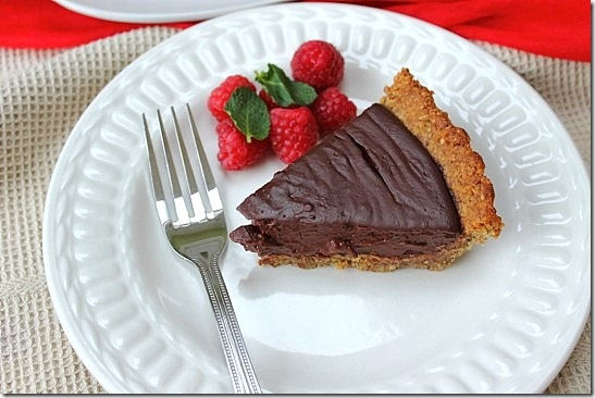 Vegan Chocolate Pecan Crust Pie (4)
