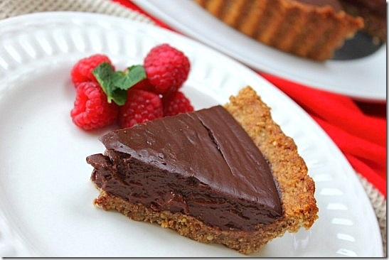 Vegan Chocolate Pecan Crust Pie
