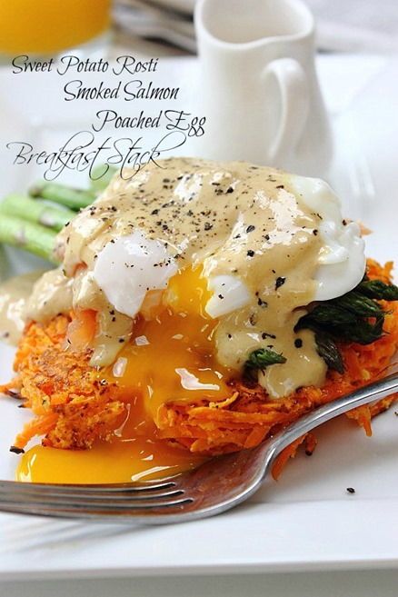 Roasted Garlic Sweet Potatoes With A Poached Egg Recipes — Dishmaps