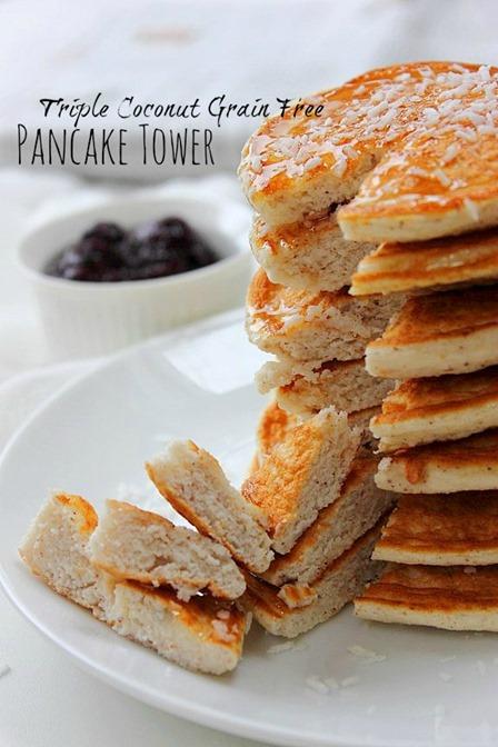 Paleo Pancake Tower