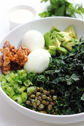 Sweet Savoury Salty Fresh Kale Egg Salad