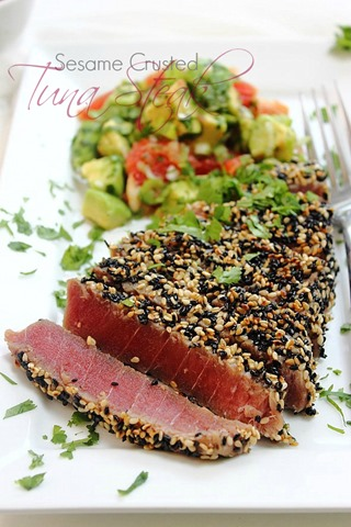 Grilled Tuna Steaks With Grape And Caper Salsa Recipes — Dishmaps