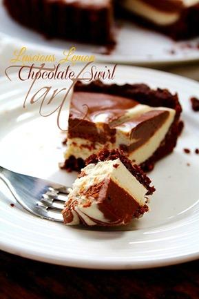Lemon Chocolate Swirl Tart (4) title
