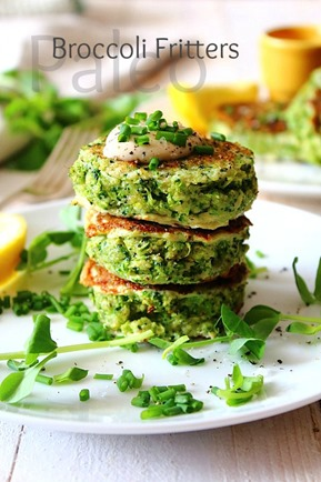 Paleo Broccoli Fritters (1) title
