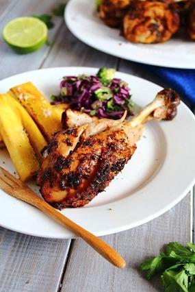 Jerk Chicken Drumsticks & Plantain Fries  (12)