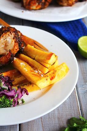 Jerk Chicken Drumsticks & Plantain Fries  (14)