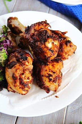 Jerk Chicken Drumsticks & Plantain Fries  (7)