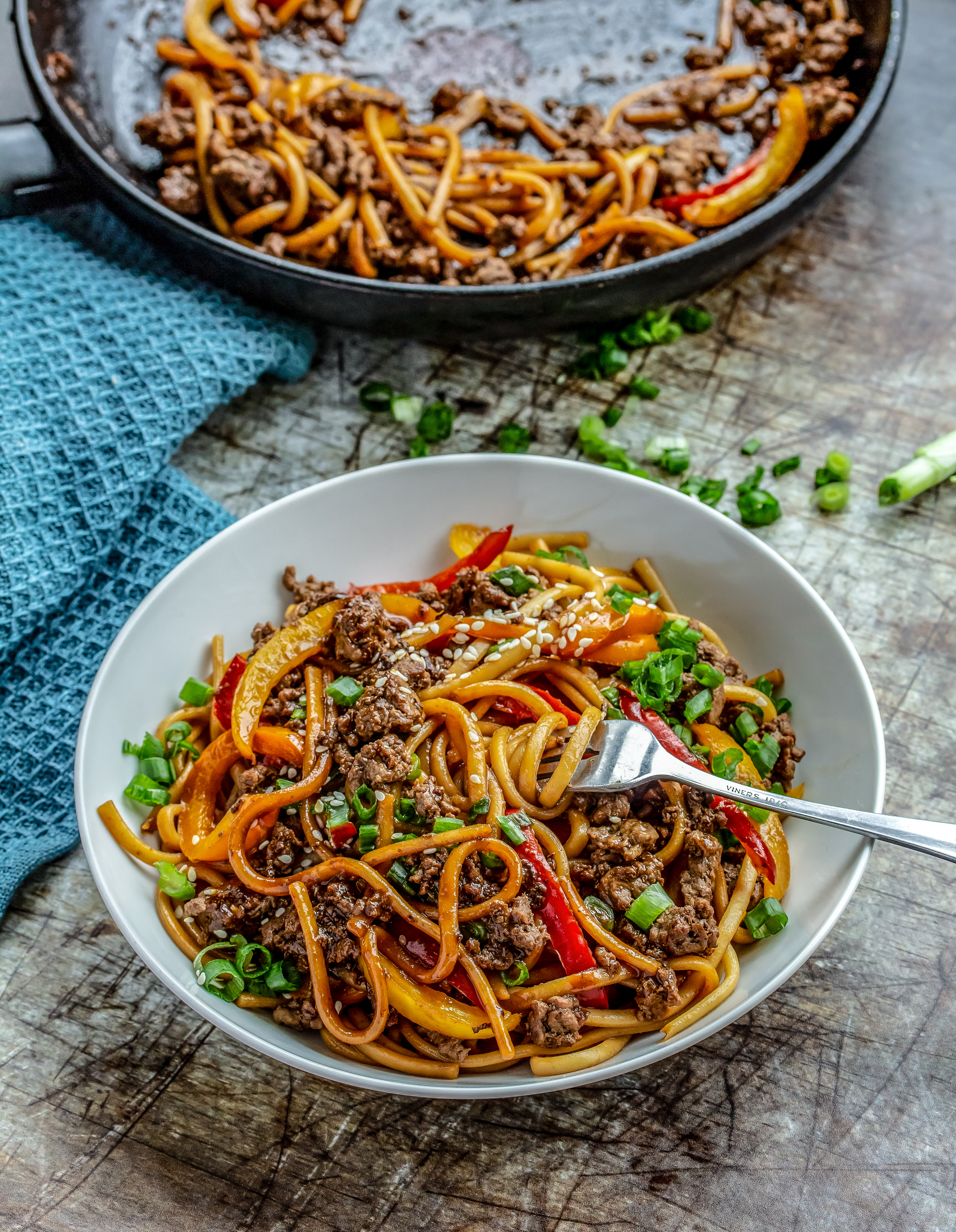 Hoisin Style Beef Udon Noodles Peachy Palate